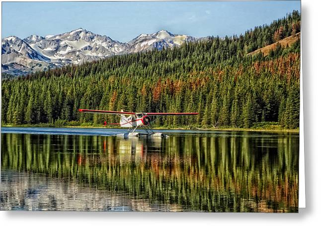 Seaplane Greeting Cards - Seaplane in British Columbia Greeting Card by Mountain Dreams