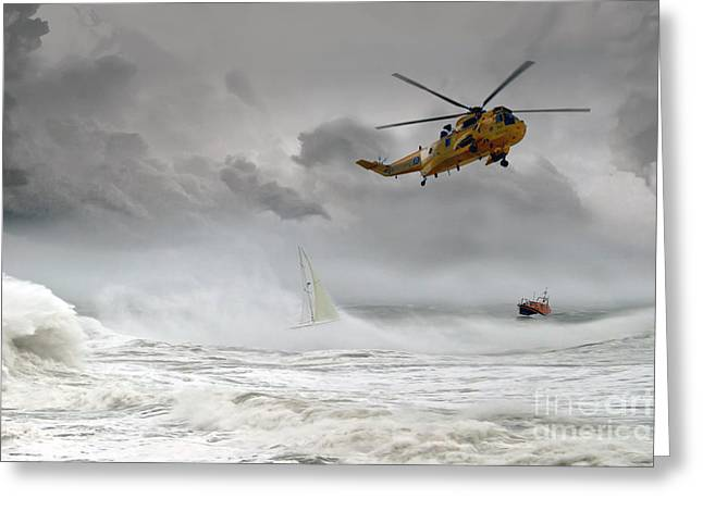 Sar Greeting Cards - Search and Rescue Greeting Card by J Biggadike