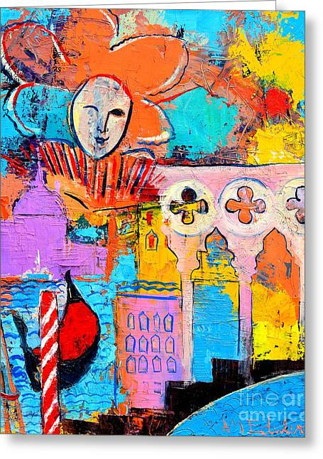 Blue And Purple Sea Greeting Cards - Search Of Lost Time In Venice Greeting Card by Ana Maria Edulescu