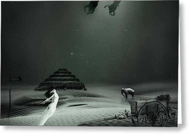 Pyramids Greeting Cards - Searching for Paradise Greeting Card by Erik Brede