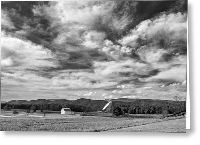 C.b. Radio Greeting Cards - Searching the Sky monochrome Greeting Card by Steve Harrington