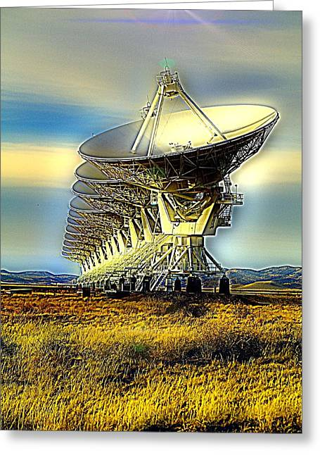 Searching The Stars Greeting Card by Jeff Swan