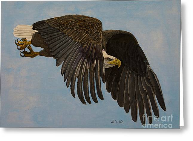 Hunting Bird Greeting Cards - Searching Greeting Card by Zina Stromberg