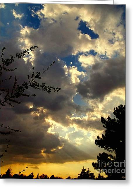 Mccarthy Art Greeting Cards - Searchlight Greeting Card by Glenn McCarthy Art and Photography