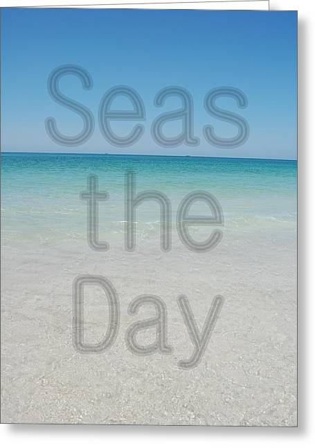 Panama City Beach Greeting Cards - Seas the Day Greeting Card by May Photography