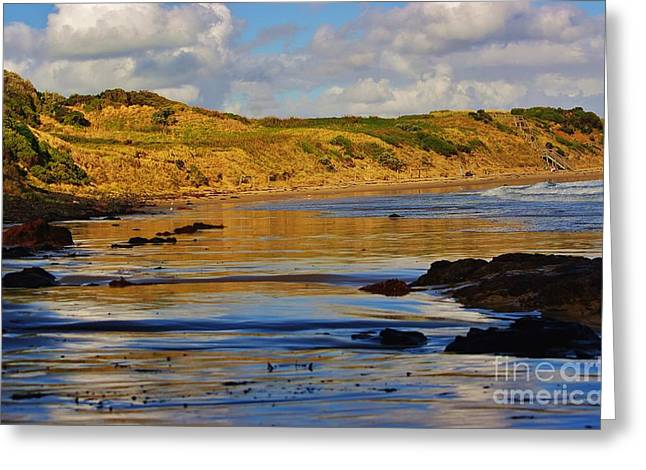 Seascape At Phillip Island Greeting Card by Blair Stuart