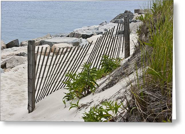 Cold Storage Beach Greeting Cards - Seascape Greeting Card by Dennis Coates