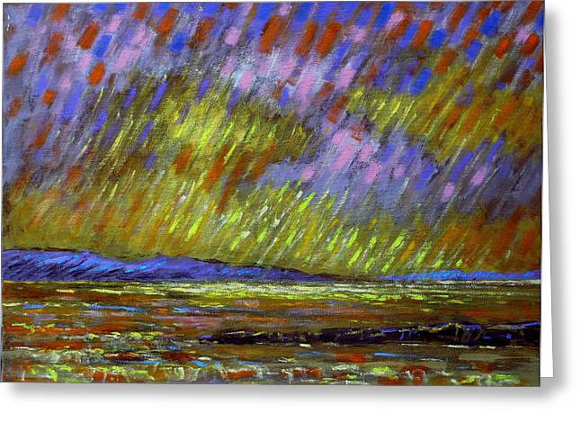 Canvas Crows Greeting Cards - Seascape  I Greeting Card by John  Nolan