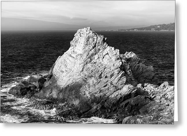 Point Lobos State Greeting Cards - Seascape of Point Lobos in Black and White Greeting Card by Ken Wolter