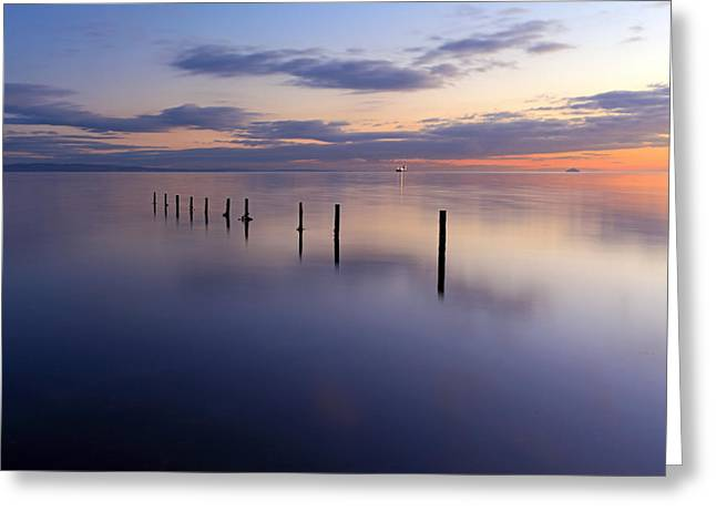 Sunset Seascape Greeting Cards - Seascape Sunset Greeting Card by Grant Glendinning