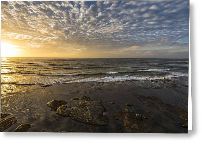 Images Of San Diego Greeting Cards - Seascape Sunset Greeting Card by Joseph S Giacalone