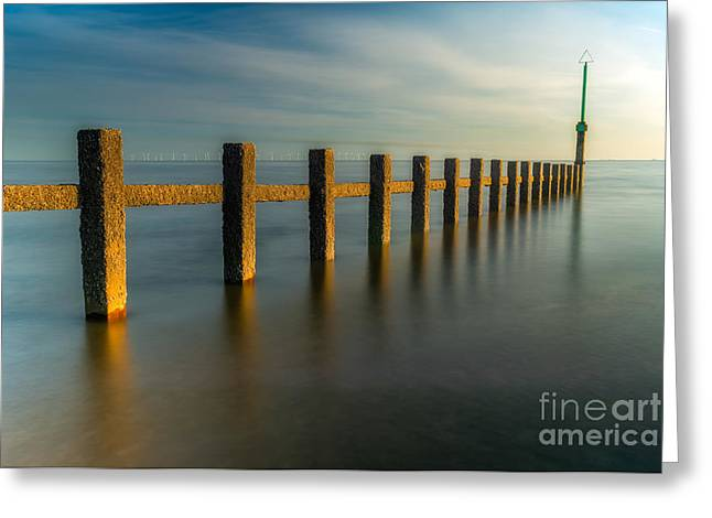Sky Sea Greeting Cards - Seascape Wales Greeting Card by Adrian Evans