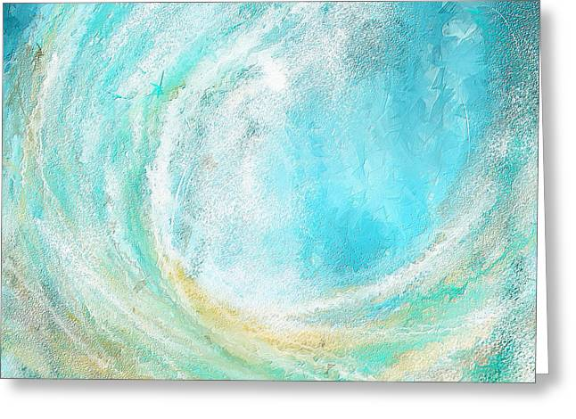 Seascapes Abstract Art - Mesmerized Greeting Card by Lourry Legarde