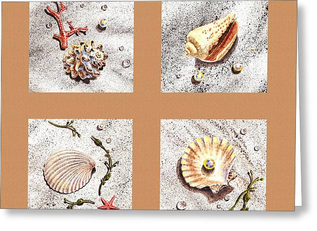 Seashell Fine Art Greeting Cards - Seashell Collection II Greeting Card by Irina Sztukowski