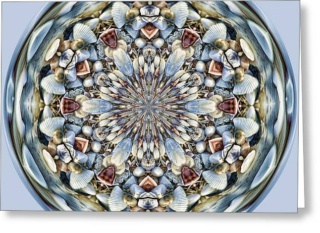 Shell Texture Greeting Cards - SeaShell Orb Greeting Card by Cindi Ressler