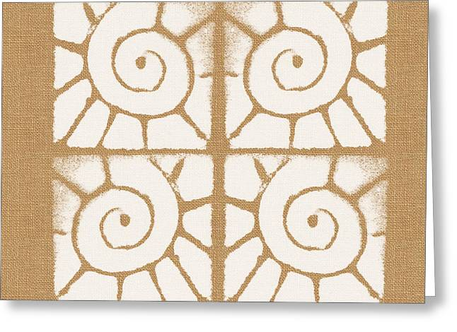 Sand Patterns Greeting Cards - Seashell Tiles Greeting Card by Linda Woods