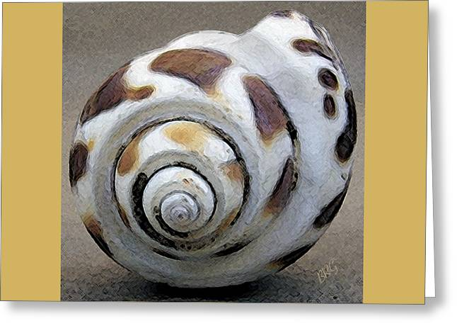 Yellow Brown Greeting Cards - Seashells Spectacular No 2 Greeting Card by Ben and Raisa Gertsberg