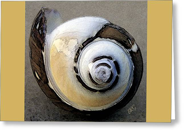 Yellow Brown Greeting Cards - Seashells Spectacular No 3 Greeting Card by Ben and Raisa Gertsberg