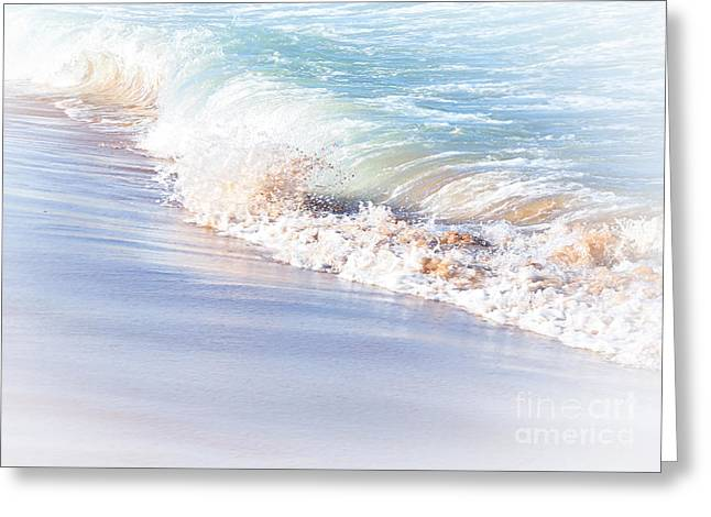 Sand Pattern Greeting Cards - Seashore Pastel Greeting Card by Kaye Menner