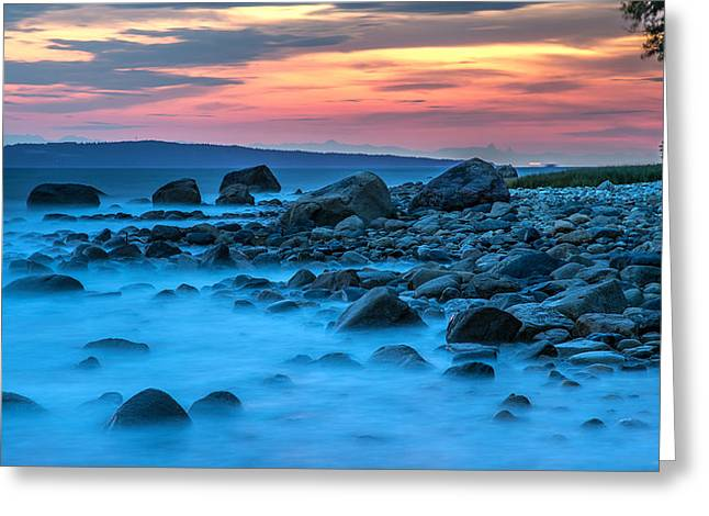 Seashore Sunset Greeting Card by Pierre Leclerc Photography