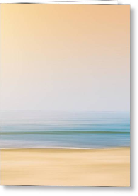 Foggy Beach Greeting Cards - Seashore Greeting Card by Wim Lanclus