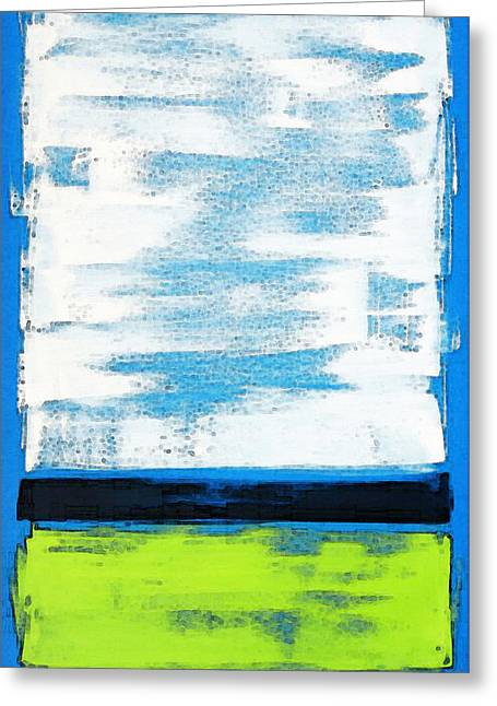 Rothko Greeting Cards - Seaside - Abstract Modern Art by Sharon Cummings Greeting Card by Sharon Cummings