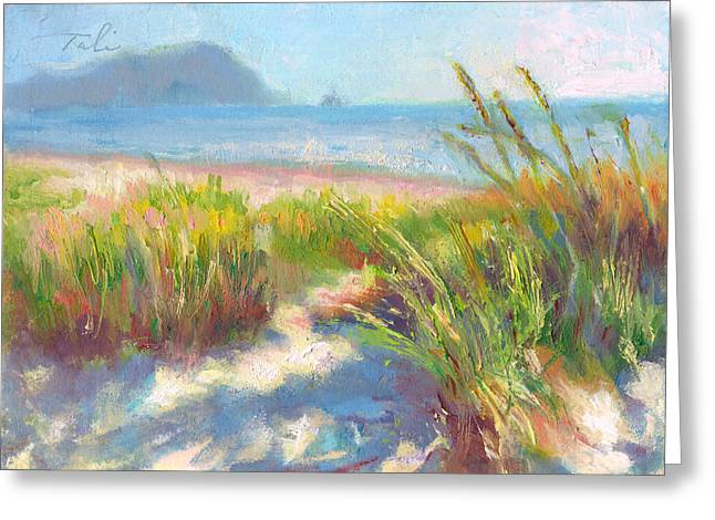 Colorist Greeting Cards - Seaside Afternoon Greeting Card by Talya Johnson
