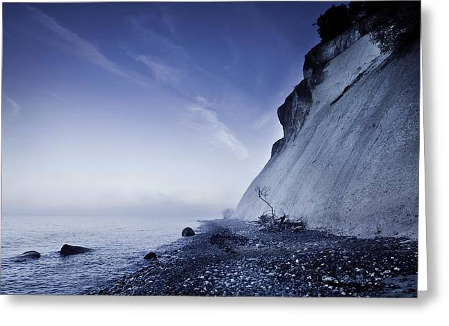 Cliffs Over Ocean Greeting Cards - Seaside And Chalk Mountain Greeting Card by Evgeny Kuklev
