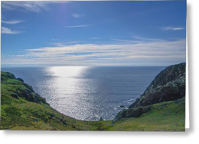 Seaside At Bunglass - Donegal Ireland Greeting Card by Bill Cannon
