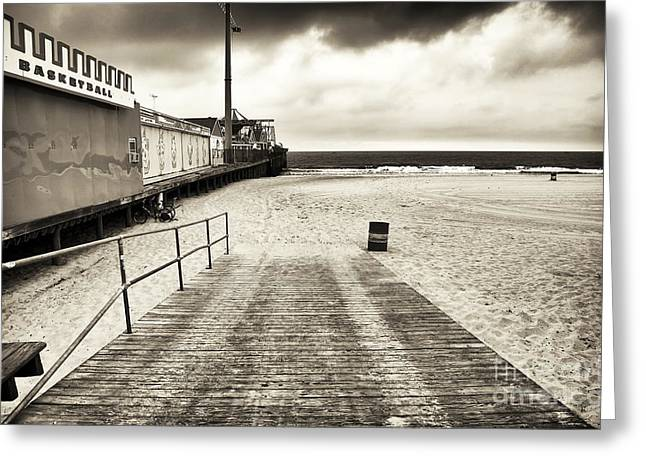 Height Greeting Cards - Seaside Beach Entry Greeting Card by John Rizzuto
