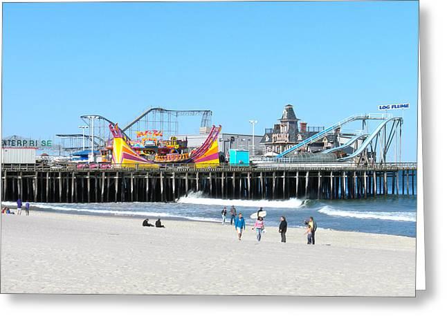 Seaside Casino Pier Greeting Card by Neal Appel