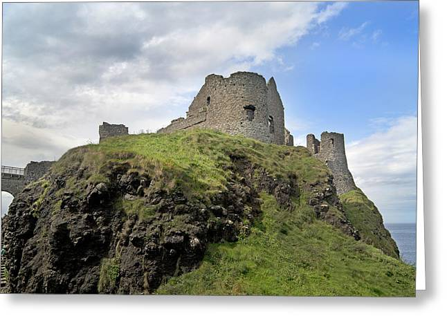 Mystical Landscape Greeting Cards - Seaside Castle Ireland Greeting Card by Betsy C  Knapp