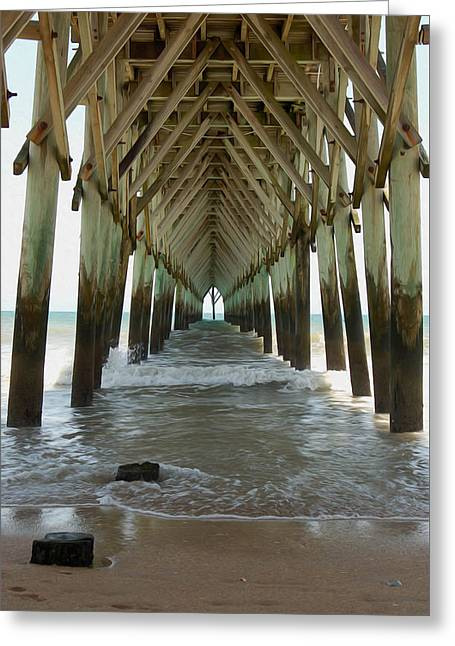 Recently Sold -  - Surf City Greeting Cards - Seaside Cathedral Greeting Card by Heather Lee