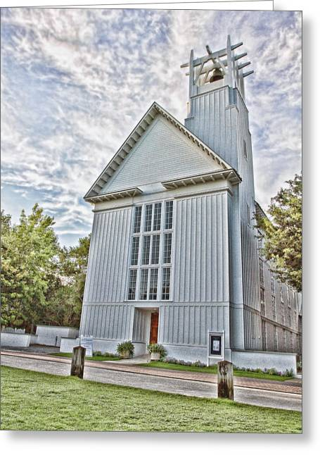 Believers Greeting Cards - Seaside Chapel Greeting Card by Scott Pellegrin
