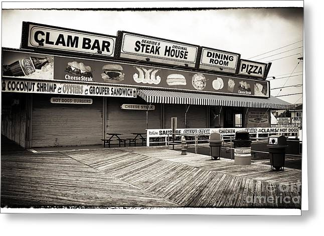 Old Pizza House Greeting Cards - Seaside Clam Bar Greeting Card by John Rizzuto