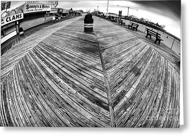 Seaside Distorted Greeting Card by John Rizzuto