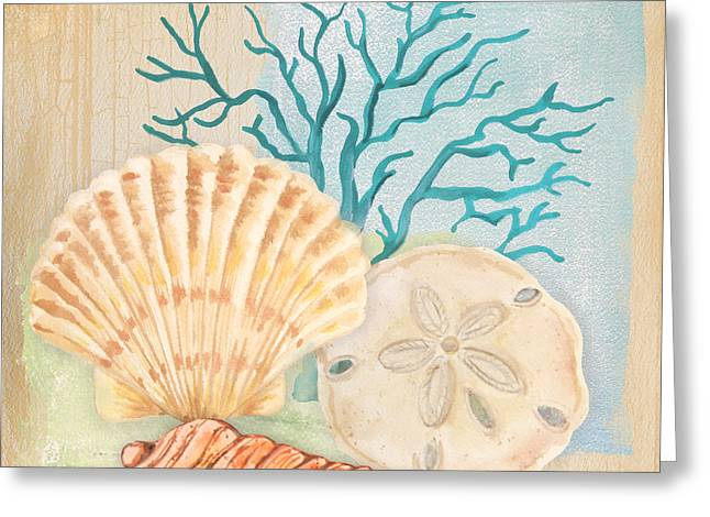 Jelly Fish Paintings Greeting Cards - Seaside Dream-A Greeting Card by Jean Plout