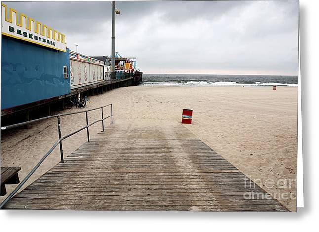 Seaside Height Greeting Cards - Seaside Heights Beach Greeting Card by John Rizzuto
