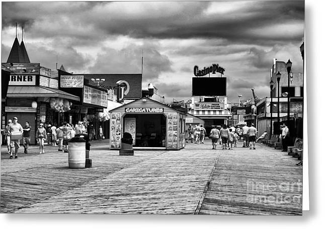 Seaside Height Greeting Cards - Seaside Heights Boardwalk infrared Greeting Card by John Rizzuto
