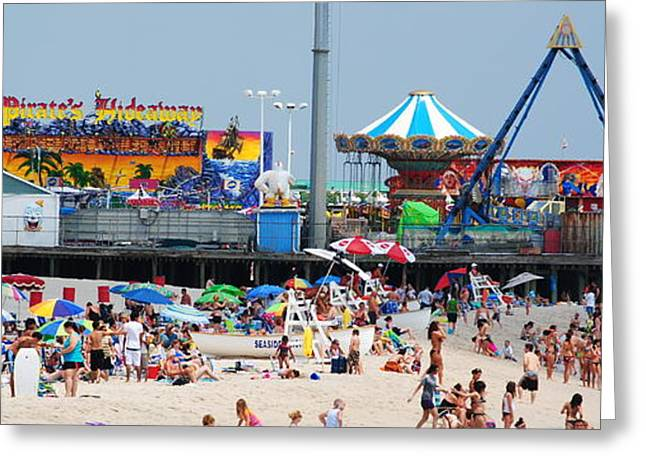 Casino Pier Greeting Cards - Seaside Heights Greeting Card by Daniel Diaz