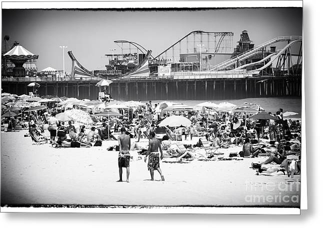 Seaside Heights Greeting Cards - Seaside Heights Greeting Card by John Rizzuto