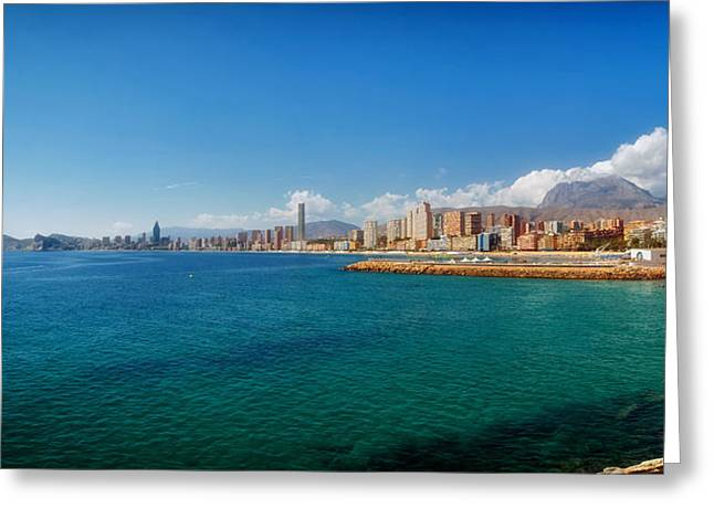 Swimmers Greeting Cards - Seaside in Alicante Greeting Card by Mountain Dreams
