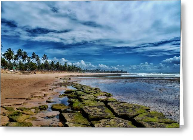 Recently Sold -  - Ocean Vista Greeting Cards - Seaside in Brazil Greeting Card by Mountain Dreams