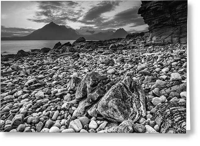 Ocean. Reflection Greeting Cards - Seaside in Scotland Greeting Card by Mountain Dreams