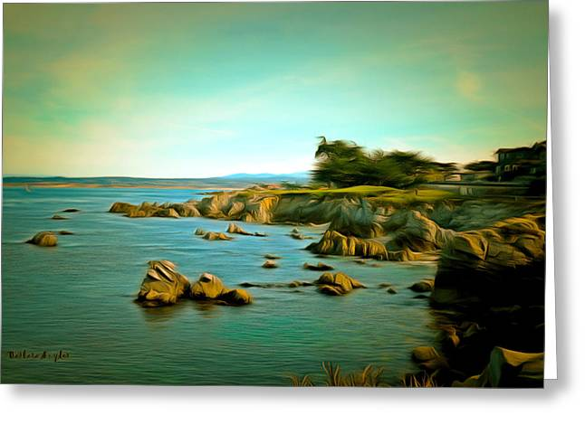 In The Distance Greeting Cards - Seaside In The Distance Digital Greeting Card by Barbara Snyder