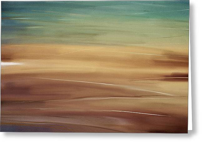 Abstract Seascape Art Greeting Cards - Seaside Greeting Card by Lourry Legarde