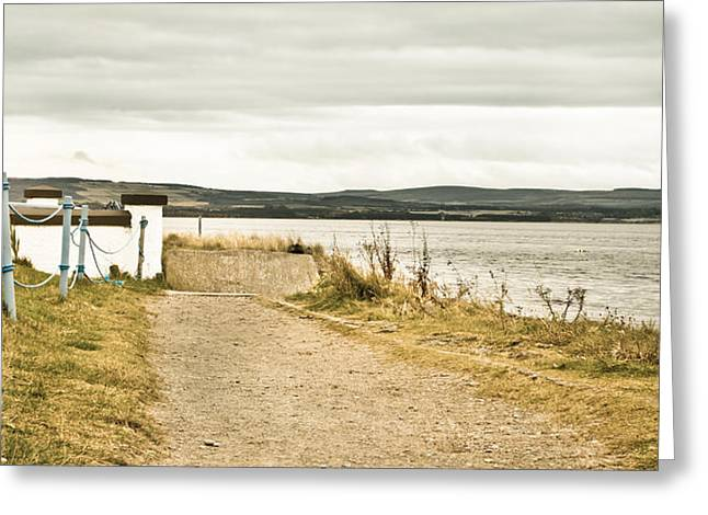Edge Greeting Cards - Seaside path Greeting Card by Tom Gowanlock