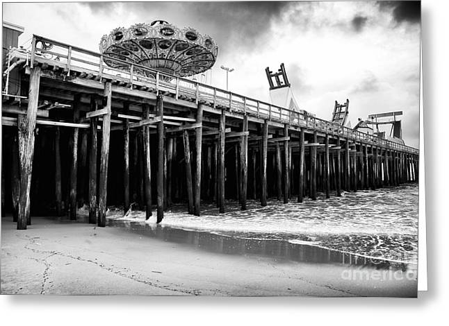 Seaside Heights Greeting Cards - Seaside Pier Greeting Card by John Rizzuto