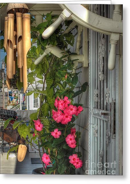 Seaside Porch Greeting Card by Joann Vitali