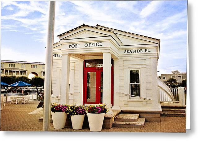 Vacation Digital Art Greeting Cards - Seaside Post Office Greeting Card by Scott Pellegrin